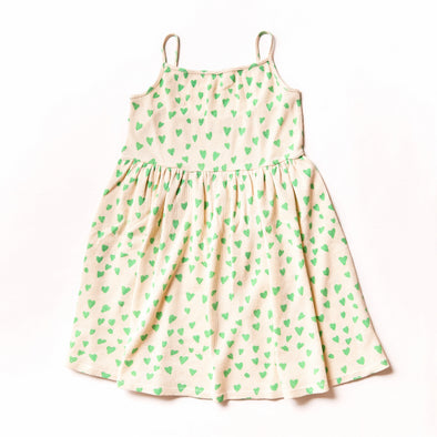 NOE & ZOË Sun Dress • Green Hearts