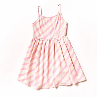 NOE & ZOË Sun Dress • Pink Diagonals