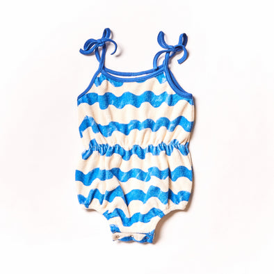 NOE & ZOË Terry Jumpsuit • Blue Waves