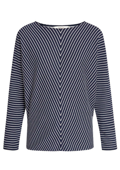 PEOPLE TREE Perry Stripe Top • Navy