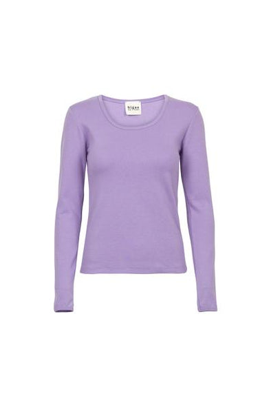BY SIGNE Rib Blouse • Purple