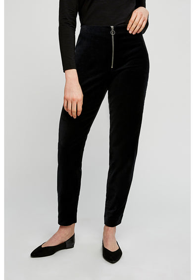 PEOPLE TREE Romaine Velvet Trousers • Black