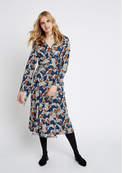 PEOPLE TREE Sorrel Wrap Dress • Floral