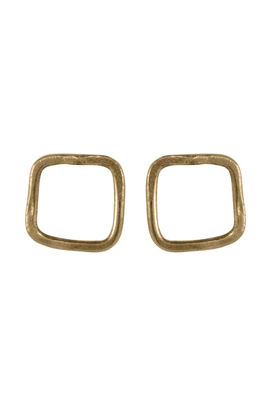 People Tree Square Stud Earrings 2  • Brass
