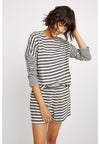 PEOPLE TREE  Stripe Pyjama Long Sleeve Top • Grey