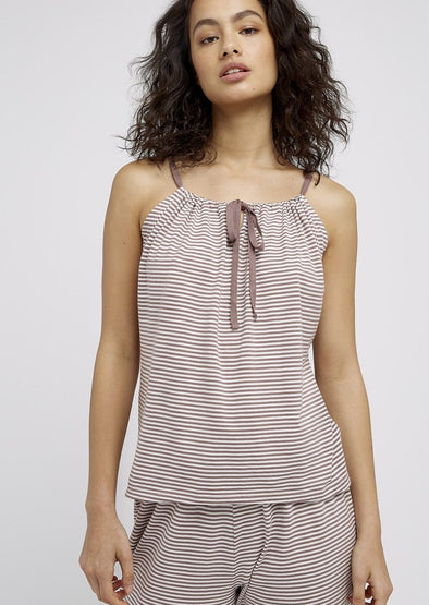 PEOPLE TREE  Stripe camisole • Beige/Cream