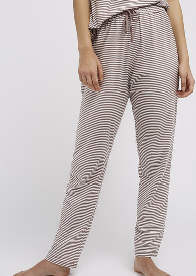 PEOPLE TREE  Stripe trousers • Beige/Cream