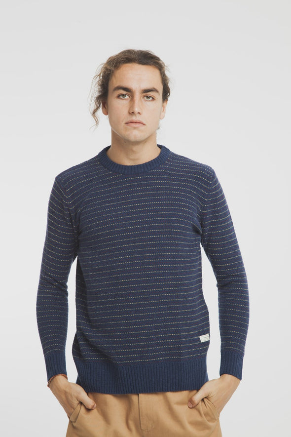 THINKING MU • Blue Lines Sweater