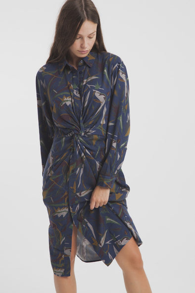 THINKING MU Terra Shirt Dress • Noëlia Portilla