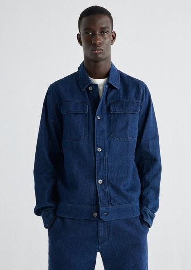 THINKING MU Hemp Odonata Jacket • Denim