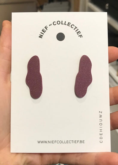 NIEF COLLECTIEF Earrings Cloud Bold • Aubergine