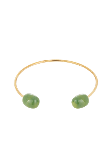 PEOPLE TREE Two bead bangle • Brass 462