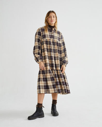 harvestclub-harvest-club-leuven-thinking-mu-big-checks-boho-dress-big-checks