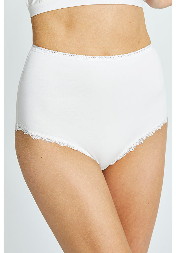 PEOPLE TREE High waist briefs • White