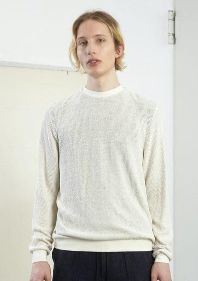 FRISUR  Hans Sweater • Knotted Ecru