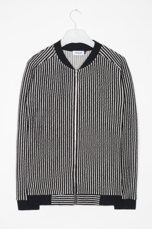 Frisur Josh Jacket • Striped black and white