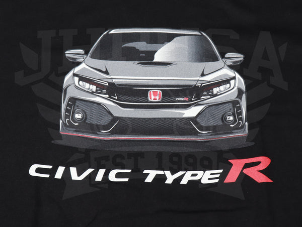 Official Licensed - Honda Civic Type-R Illustrated T-Shirt - Black