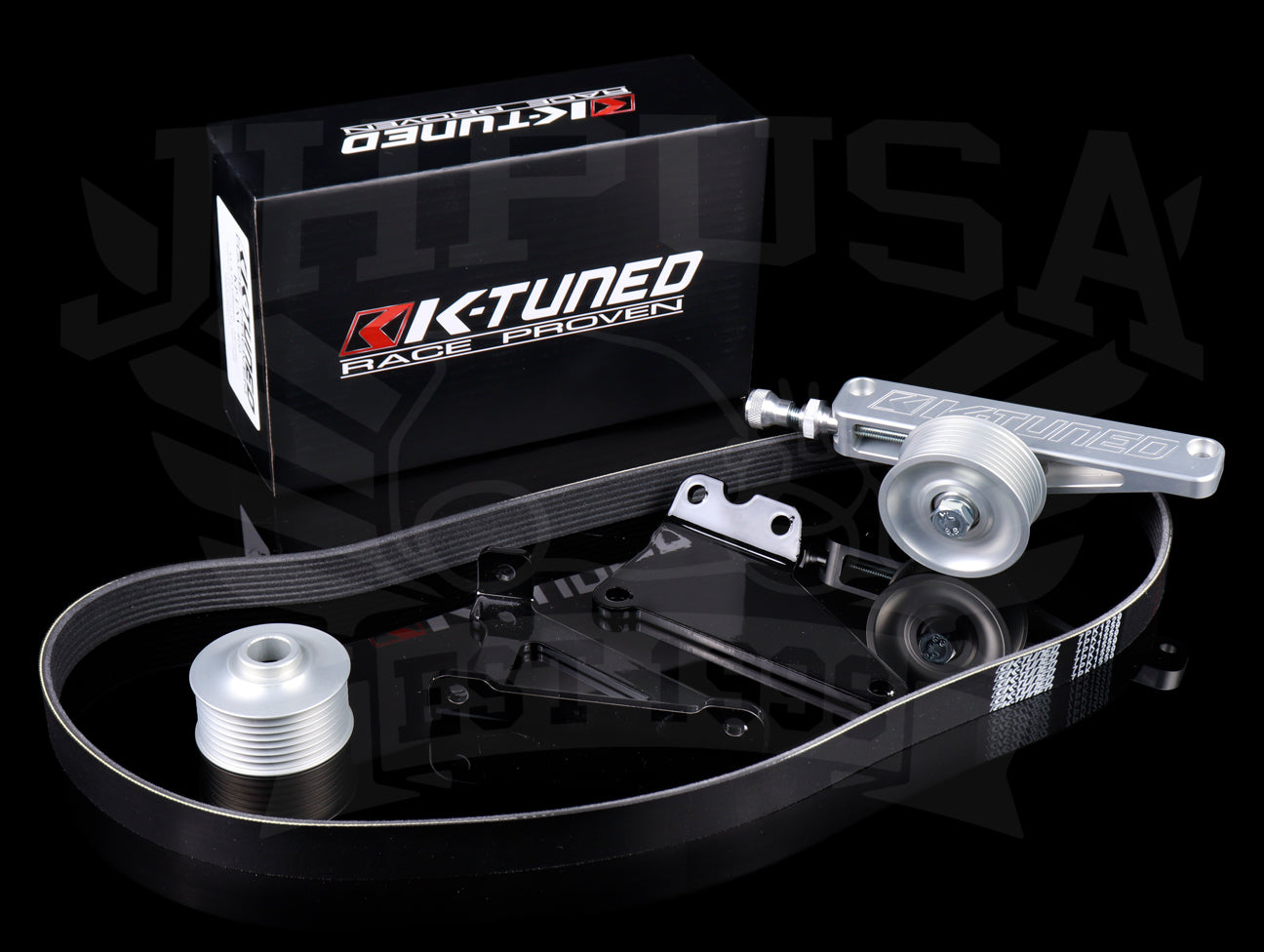 K-Tuned A/C & P/S Eliminator Pulley Kit - K-series