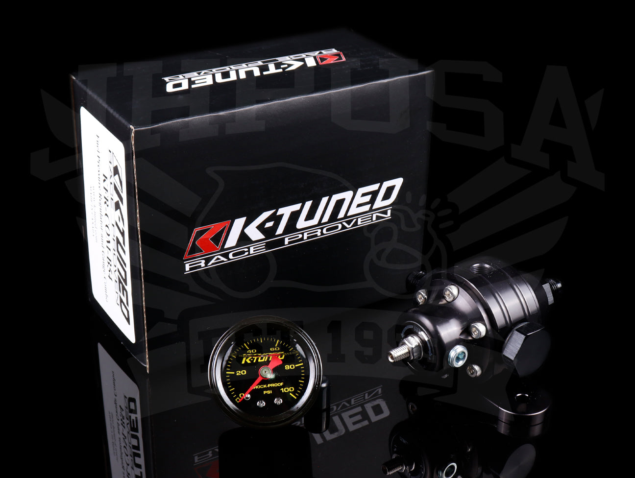 K-Tuned Adjustable Fuel Pressure Regulator & Gauge Combo