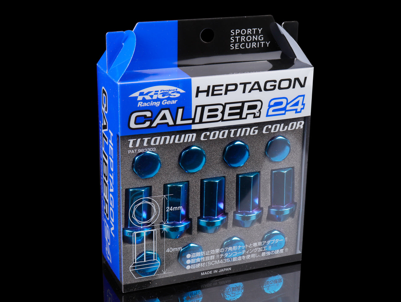 Project Kics Heptagon Caliber 24 Lug Nut Set