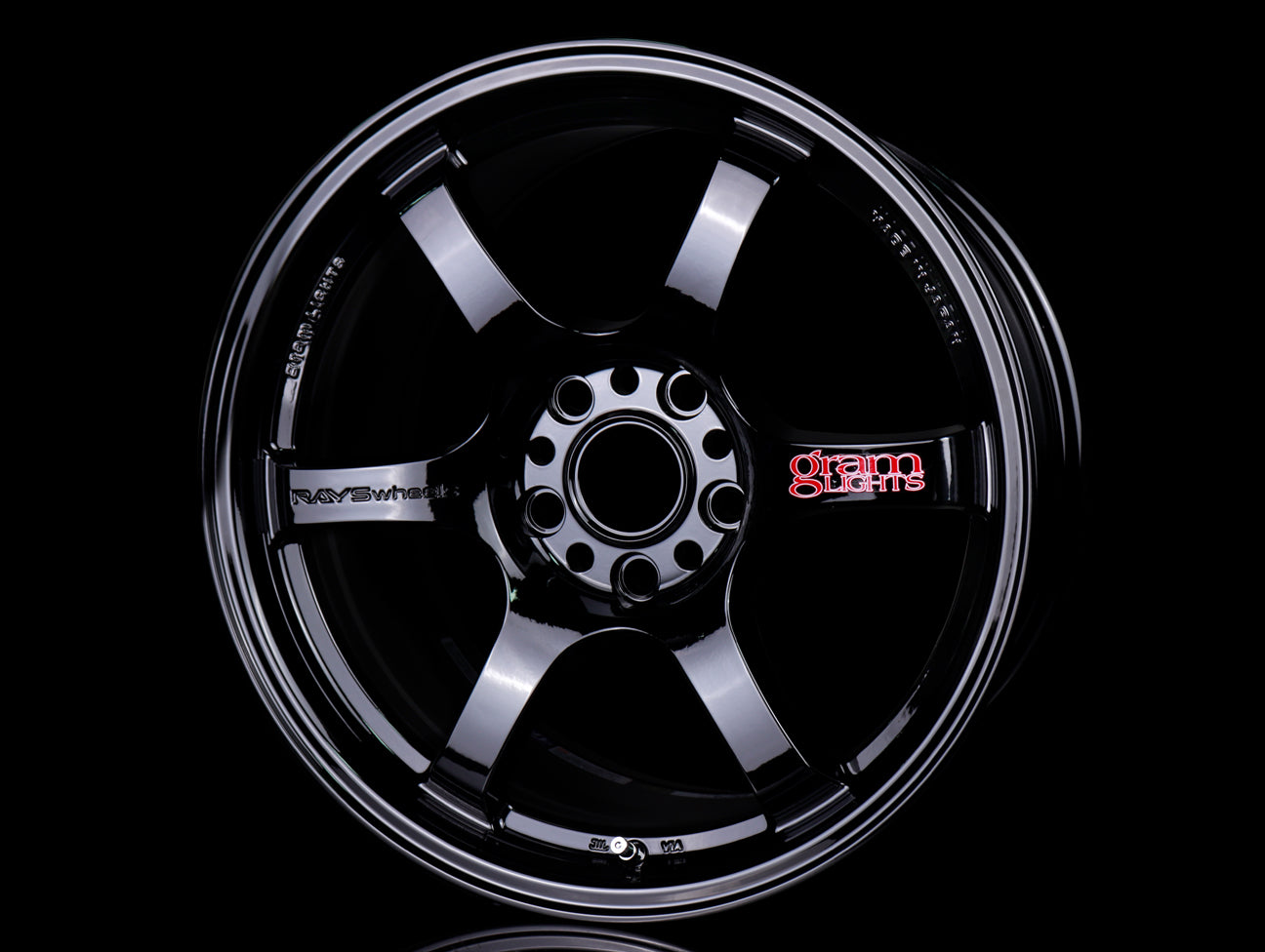 Rays Gram Lights 57DR Wheels - Gloss Black 17x9 / 5x114 / +38