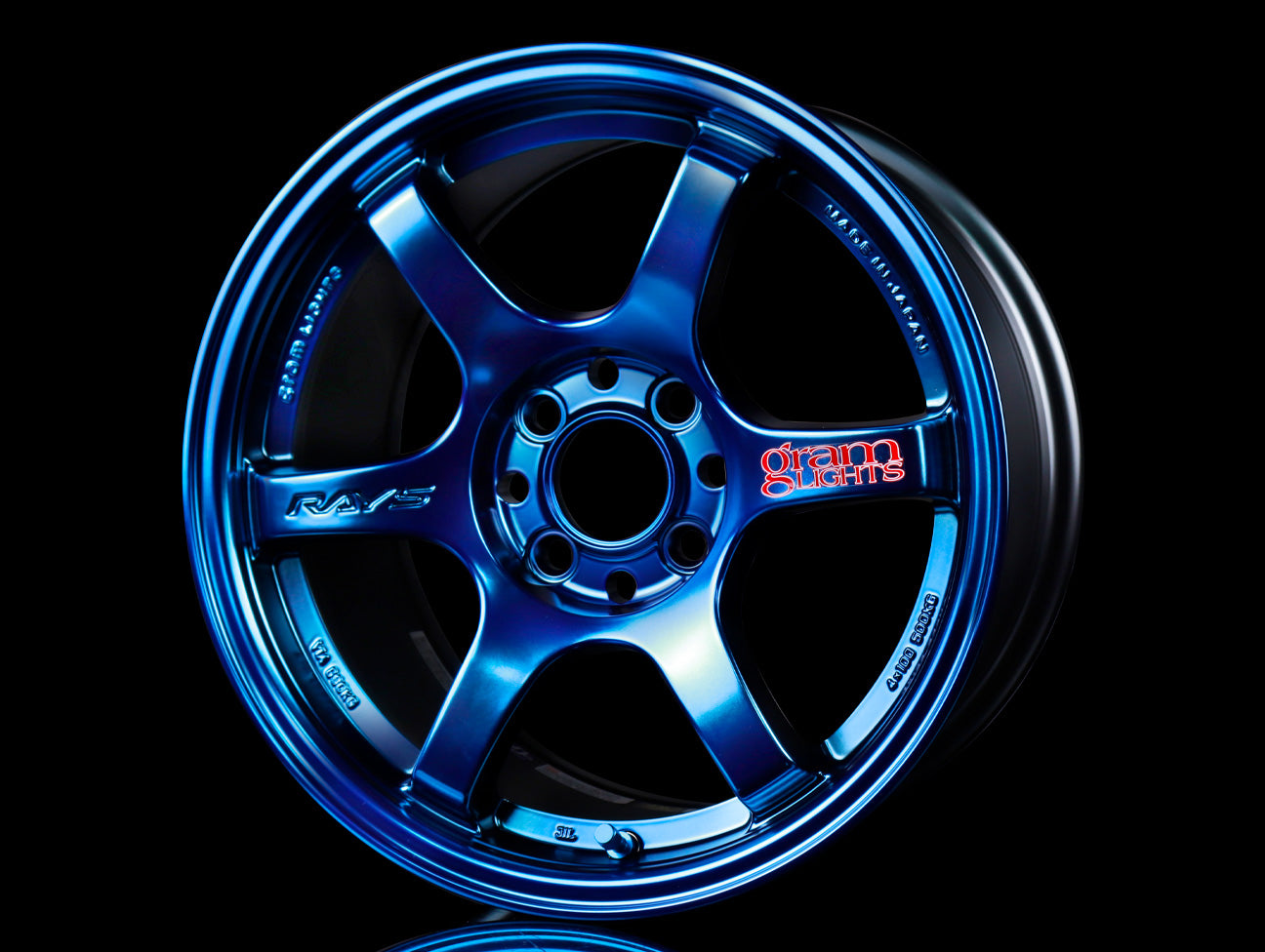Rays Gram Lights 57DR Wheels - Spatta Blue 15x8 / 4x100 / +35