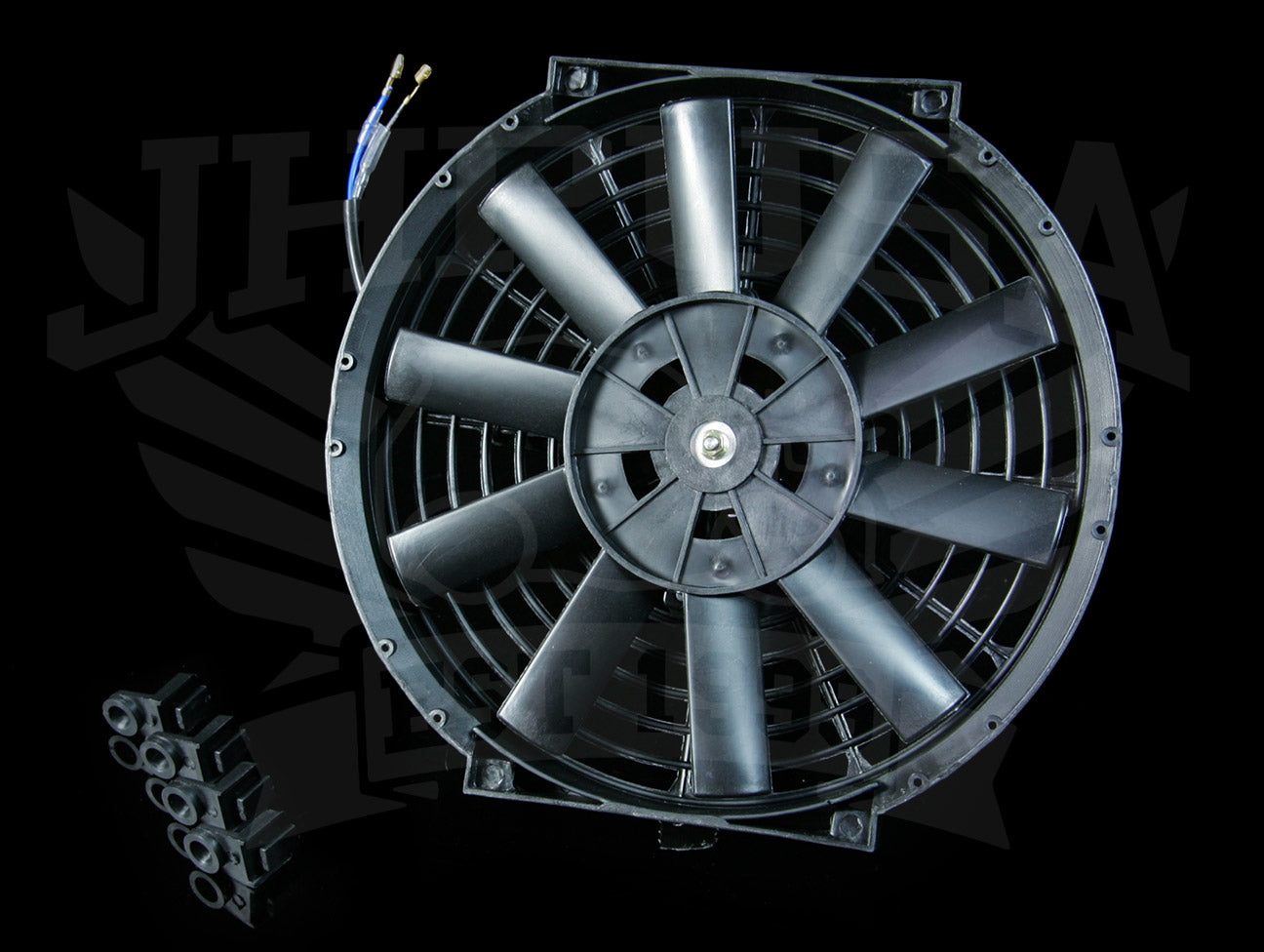 Blox Slim Radiator Fan - Black