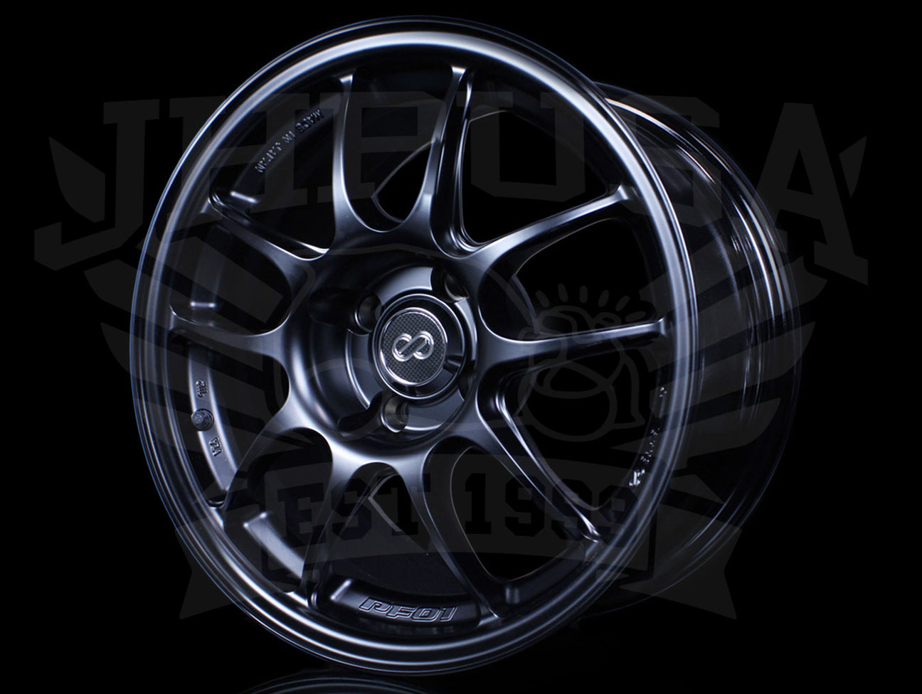 Enkei PF01 Wheels - Matte Black 15x8 / 4x100 / +35
