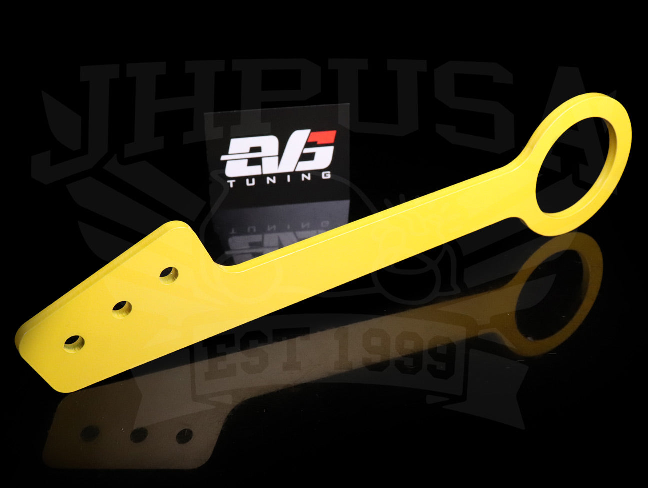 EVS Tuning Yellow Front Tow Hook - 00-09 S2000 w/Voltex Bumper