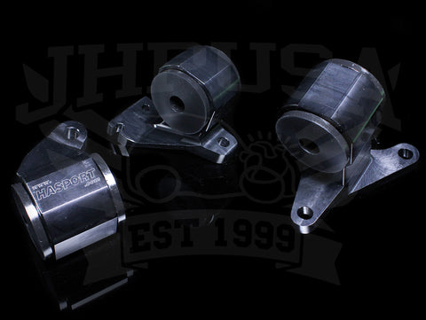 Hasport Billet Black Replacement Mounts - 90-91 Integra / 92-93 GSR