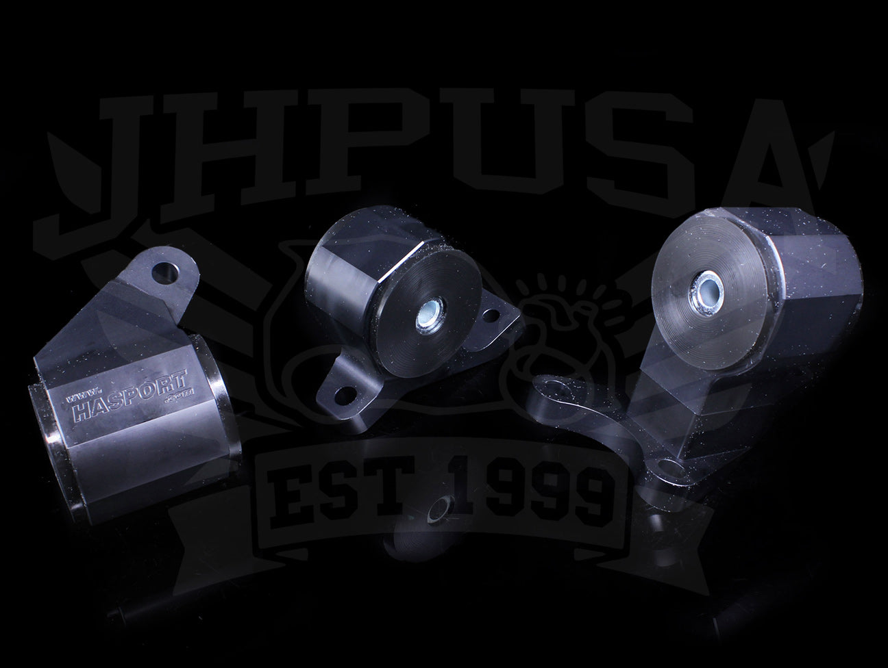 Hasport Billet Black Replacement Mounts - 92-93 Integra Non-VTEC