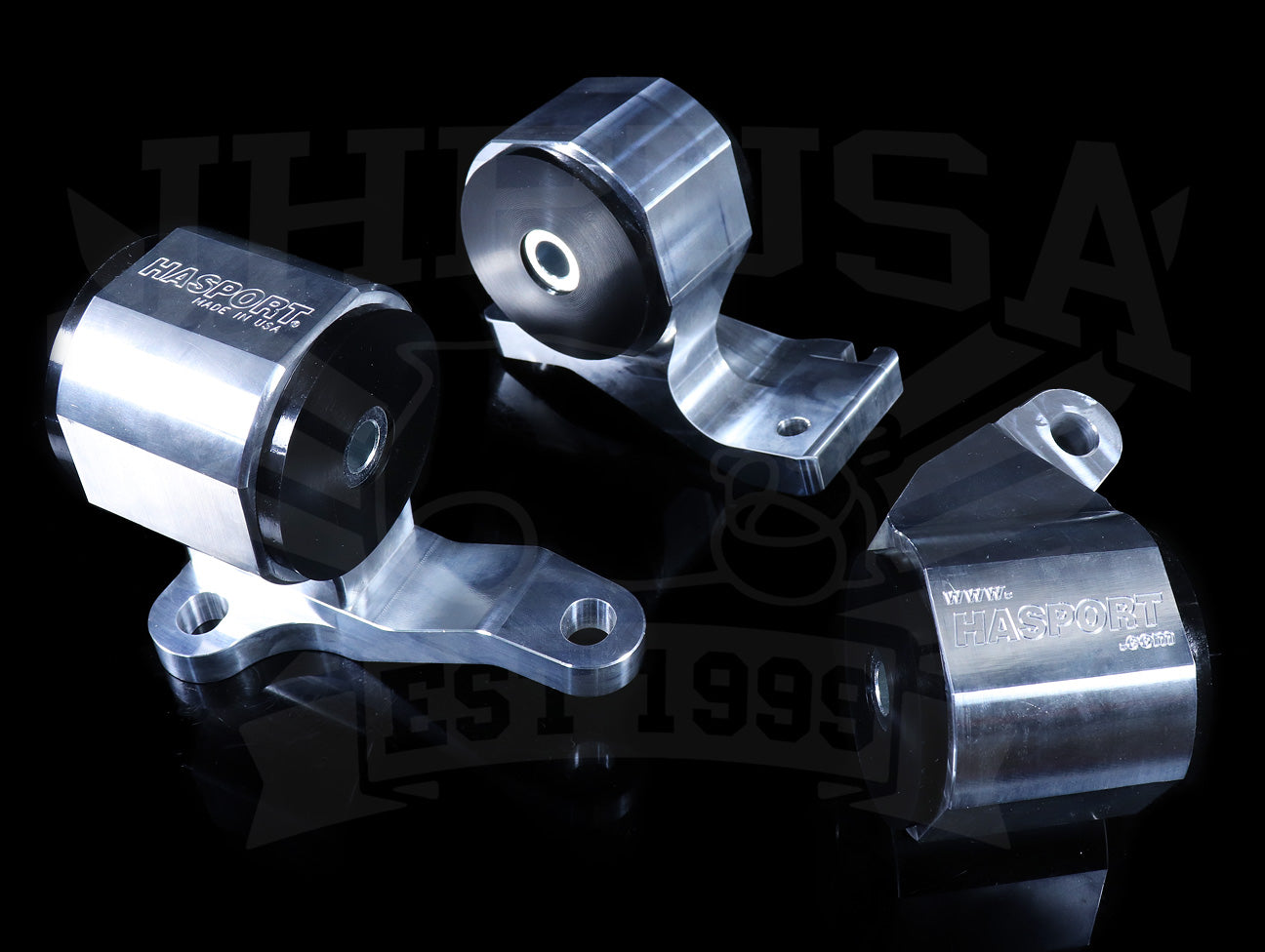Hasport Billet Replacement Mounts - 88-91 Civic / CRX SiR (EF8/EF9)