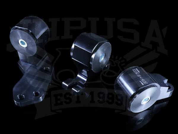 Hasport Billet Black B-series Engine Mount Kit w/Hydro Trans - 88-91 Honda Civic/CRX