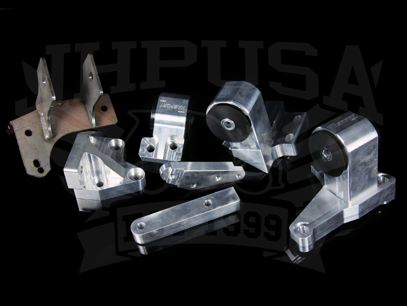 Hasport Billet H-series Engine Mount Kit - 88-91 Honda Civic/CRX