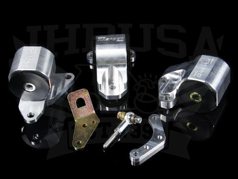 Hasport Billet B-series Engine Mount Kit w/Cable Trans - 92-95 Civic / 94-01 Integra