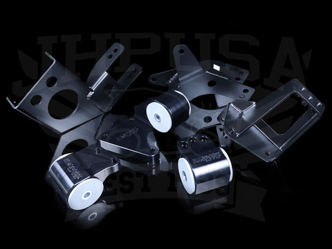 Hasport Billet Black K-series Engine w/K24 Trans Mount Kit (EGK4B) - 92-95 Civic / 94-01 Integra