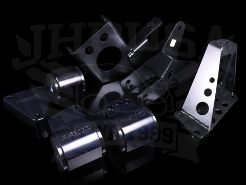 Hasport Billet Black K-series Engine w/K20-K24 & AWD Trans Mount Kit (EGK5B) - 92-95 Civic / 94-01 Integra