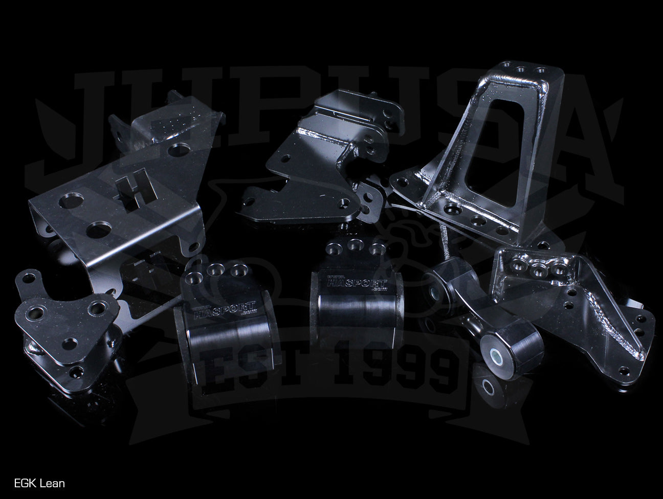 Hasport Billet Black K-series Lean Engine Mount Kit - 92-00 Civic / 94-01 Integra