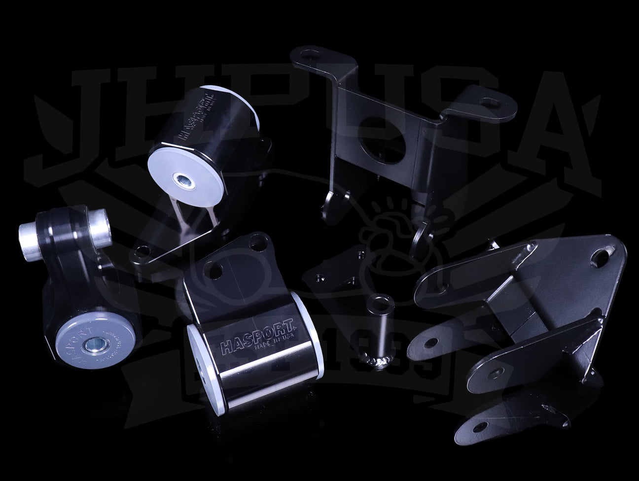 Hasport Billet Black Replacement Mounts - 06-11 Civic Si
