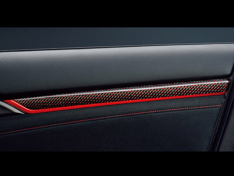 Honda Carbon Interior Door Panel Trim - 2017+ Civic Type-R (FK8)