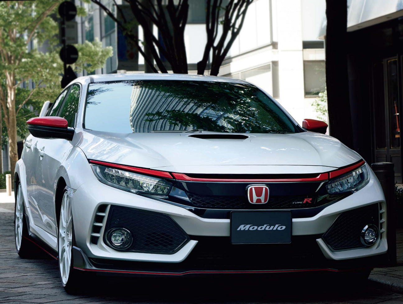 Honda Red Front Grille Garnish Set - 2017+ Civic Type-R (FK8)