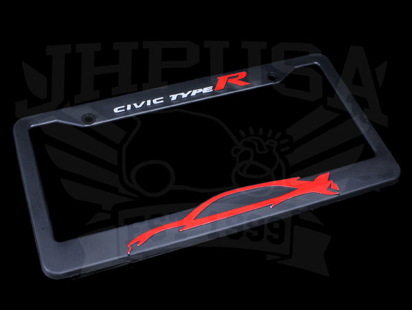 Honda Official Licensed Civic Type-R License Plate Frame - Silhouette