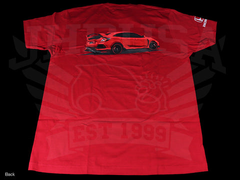 Official Licensed - Honda Red Civic Type-R T-Shirt