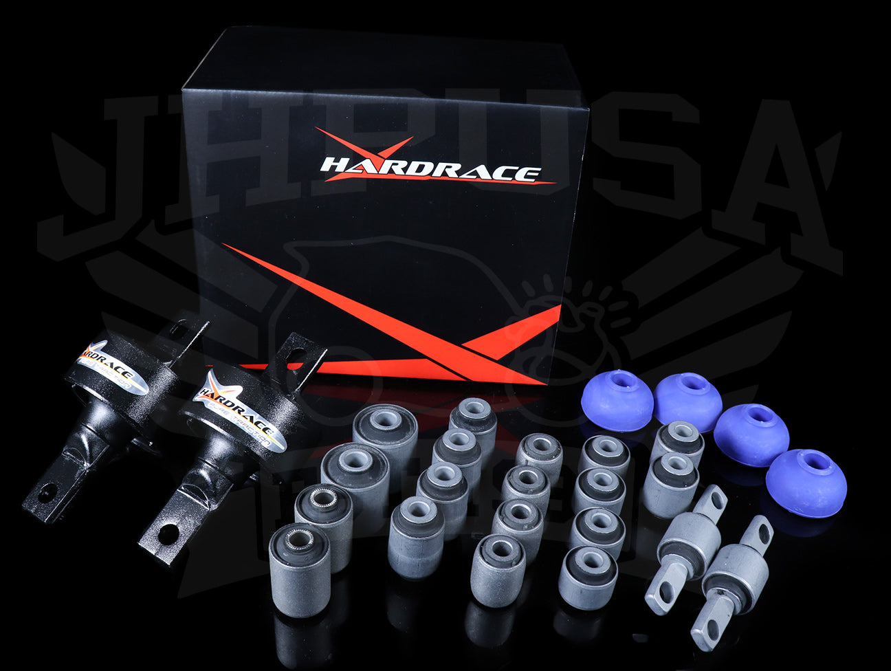 Hardrace Hard Rubber Bushing Set - 88-91 Civic/CRX STD/DX (Non-Si)