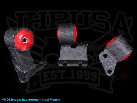 Innovative Steel Replacement Engine Mount Kit - 90-91 Integra / 92-93 Integra GSR