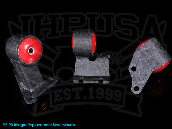 Innovative Steel Replacement Engine Mount Kit - 92-93 Integra Non-VTEC