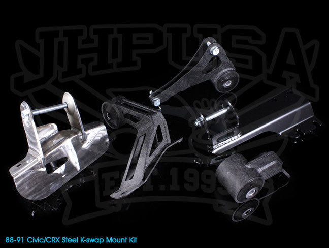 Innovative K-series Steel Engine Mount Kit - 88-91 Civic/CRX