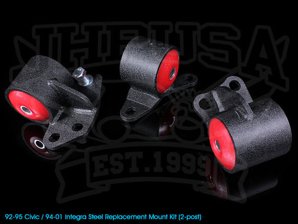 Innovative Steel Replacement Engine Mount Kit - 92-95 Civic / 94-01 Integra