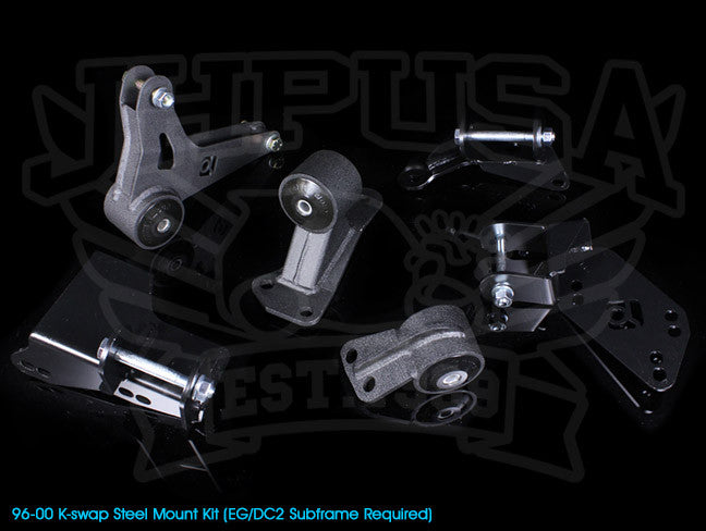 Innovative K-series Steel Engine Mount Kit - 96-00 Civic (EG/DC2 Subframe)