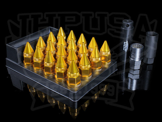 Project Kics Leggdura Dangan Spikes Racing Lug Nut Set - 20pc